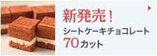 新発売!シートケーキチョコレート70カット